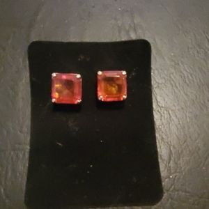 Vintage Large Amber colored studs